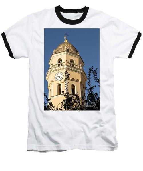 Bell Tower Of Vernazza Baseball T-Shirt