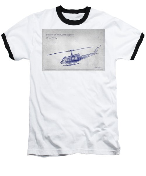 Bell Uh-1h Huey Helicopter  Baseball T-Shirt
