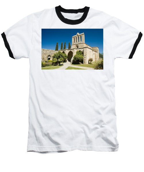 Bellapais Abbey Kyrenia Baseball T-Shirt by Jeremy Voisey