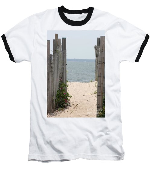 Beyond The Dunes Baseball T-Shirt by Barbara Bardzik