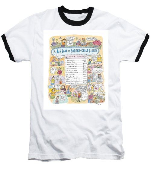 'big Book Of Parent-child Fights' Baseball T-Shirt