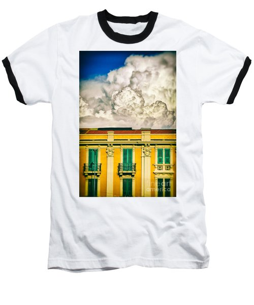 Baseball T-Shirt featuring the photograph Big Cloud Over City Building by Silvia Ganora