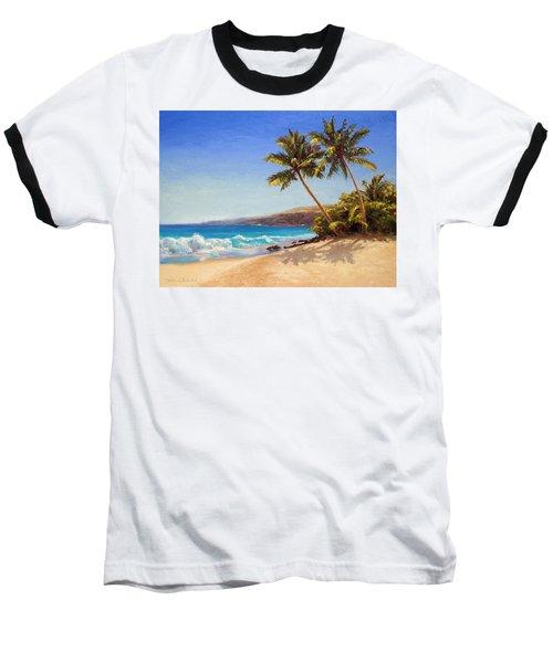 Hawaiian Beach Seascape - Big Island Getaway  Baseball T-Shirt