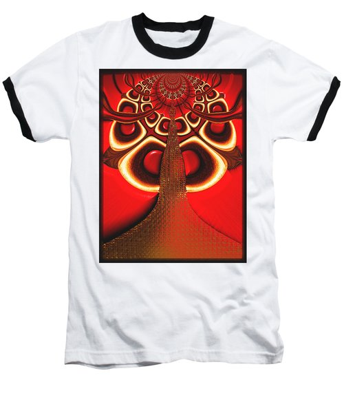 Big Tree From The Red Forest Baseball T-Shirt