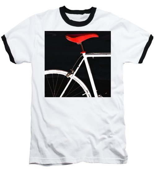 Bike In Black White And Red No 1 Baseball T-Shirt by Ben and Raisa Gertsberg