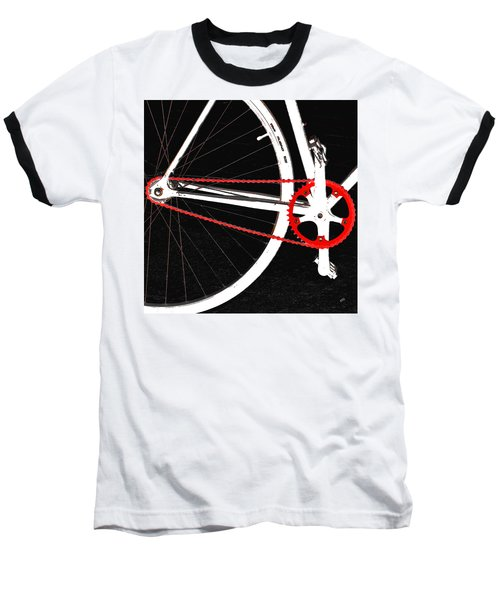 Bike In Black White And Red No 2 Baseball T-Shirt by Ben and Raisa Gertsberg