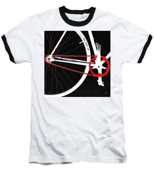 Bike In Black White And Red No 2 Baseball T-Shirt