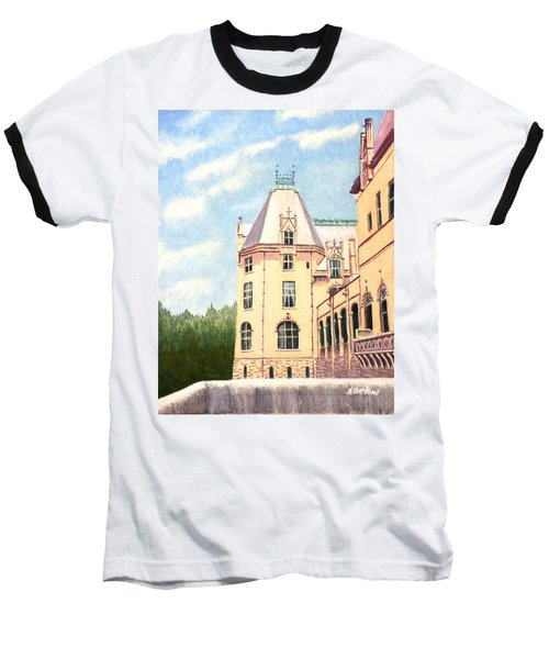 Baseball T-Shirt featuring the painting Biltmore Balcony by Stacy C Bottoms