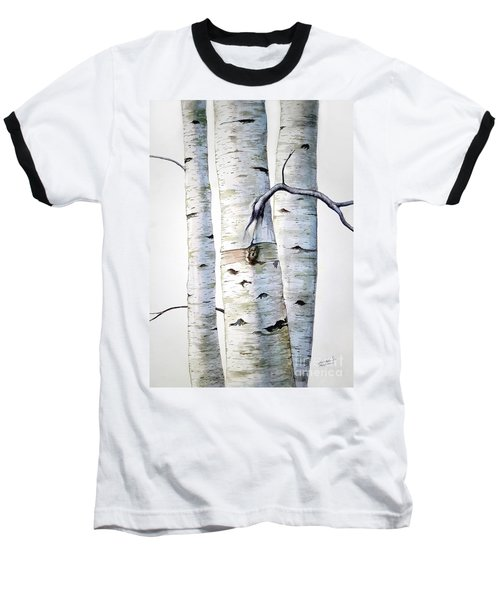 Birch Trees Baseball T-Shirt