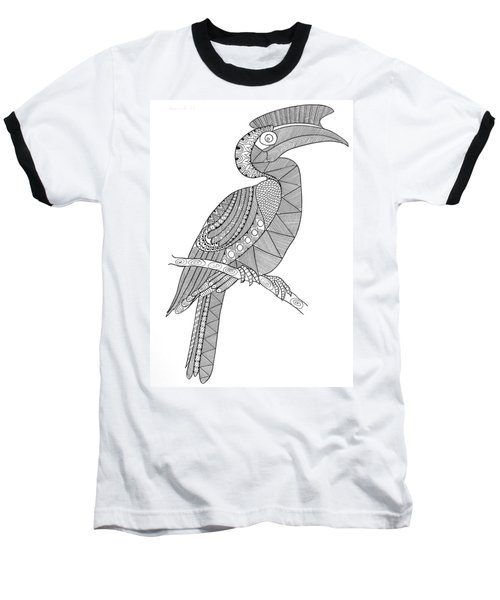 Bird Hornbill Baseball T-Shirt