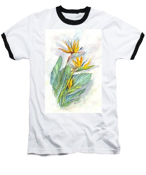 Bird Of Paradise Baseball T-Shirt by Carol Wisniewski