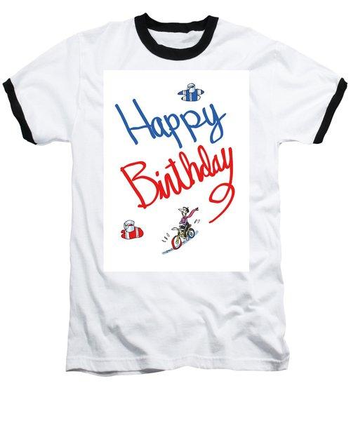 Birthday Bicycle Painter Baseball T-Shirt