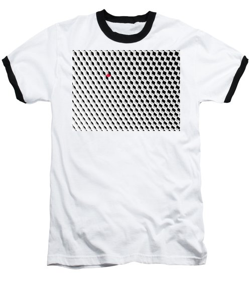 Black And White Cubes With One Red Cube. Baseball T-Shirt