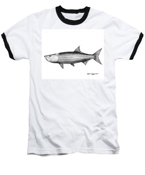 Black And White Tarpon Baseball T-Shirt