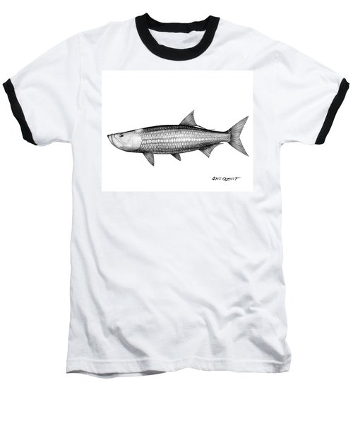 Black And White Tarpon Baseball T-Shirt