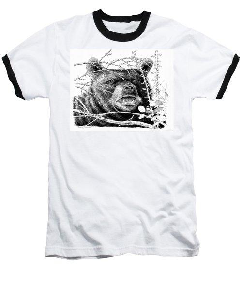 Black Bear Boar Baseball T-Shirt