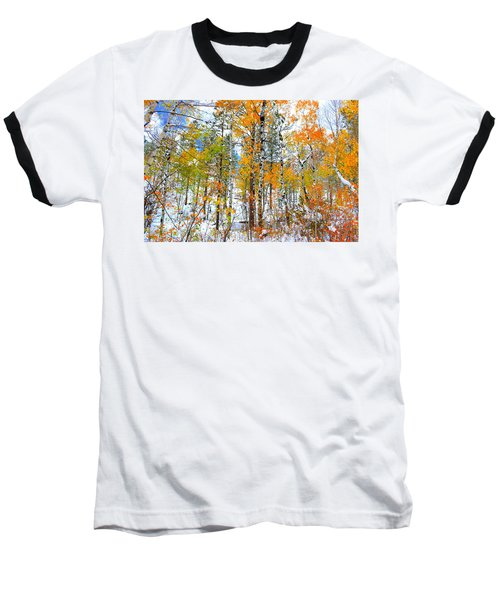 Black Hills Veil  Baseball T-Shirt by Clarice  Lakota