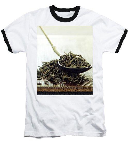 Black Tea Leaves Baseball T-Shirt