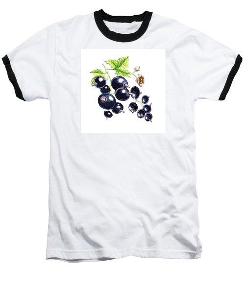 Baseball T-Shirt featuring the painting Blackcurrant Berries  by Irina Sztukowski