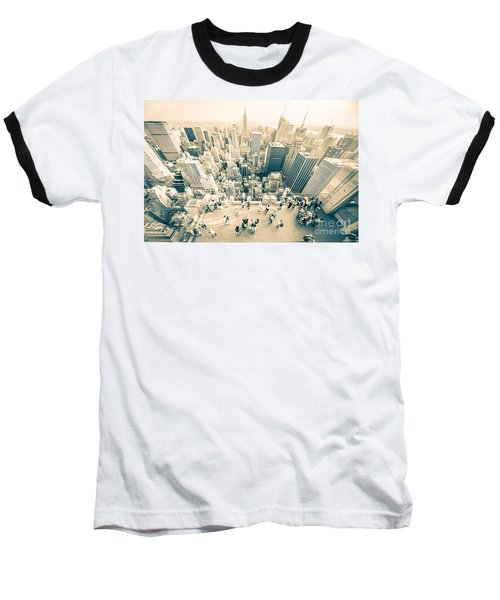 Bleached Manhattan Baseball T-Shirt