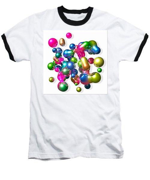 Baseball T-Shirt featuring the digital art Blobs Of Fun... by Tim Fillingim