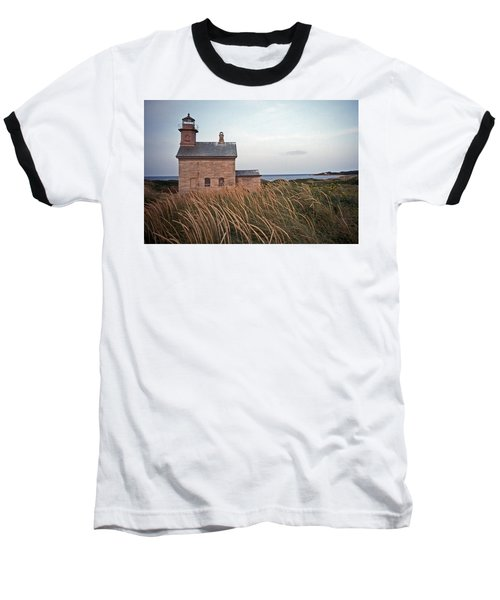 Block Island North West Lighthouse Baseball T-Shirt