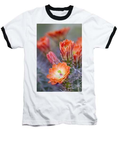 Baseball T-Shirt featuring the photograph Bloom In Orange by Bryan Keil
