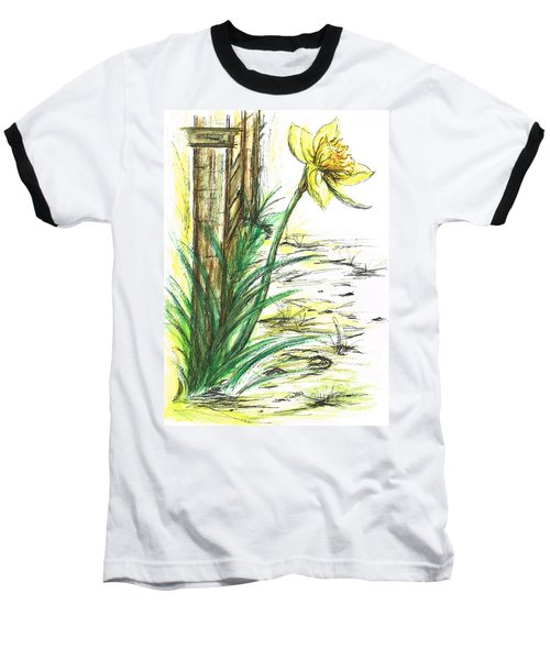Blooming Daffodil Baseball T-Shirt