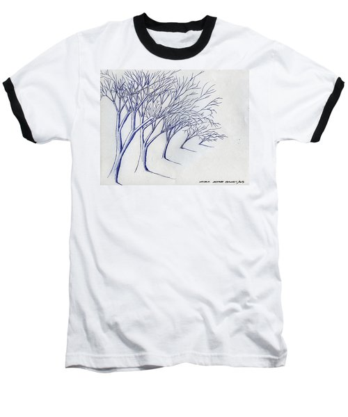 Blowing Trees Baseball T-Shirt