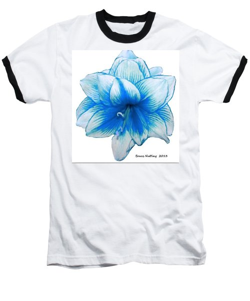 Blue Amaryllis Baseball T-Shirt