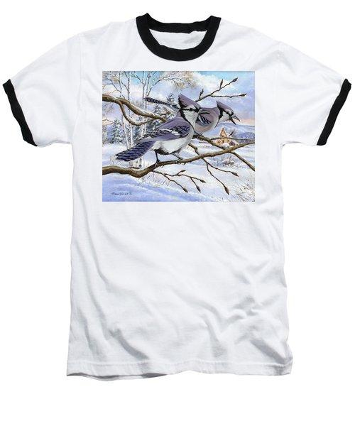 Blue Bandits Winter Afternoon Baseball T-Shirt