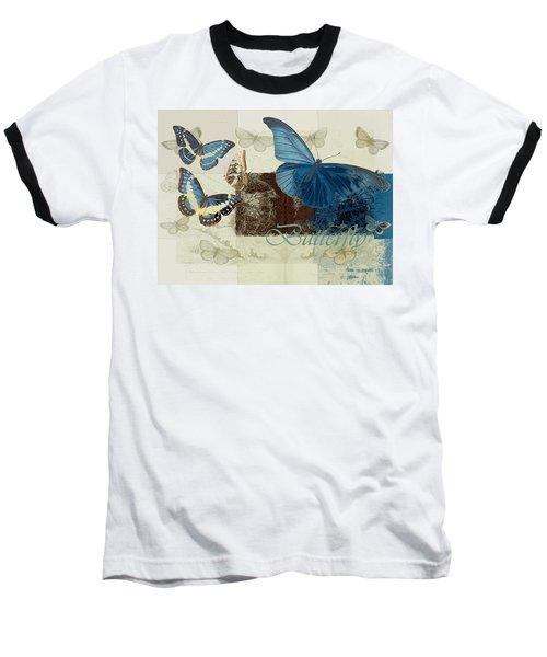 Blue Butterfly - J152164152-01 Baseball T-Shirt