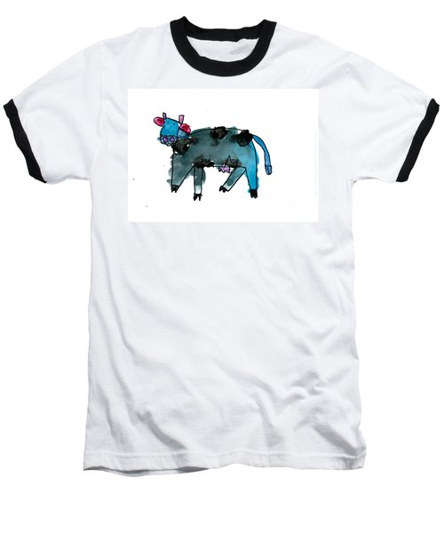 Blue Cow Baseball T-Shirt