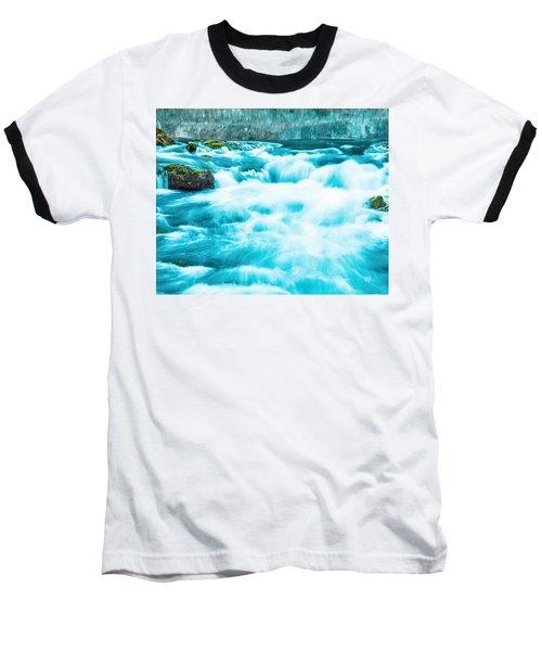 Baseball T-Shirt featuring the photograph Blue Lagoon by Steven Bateson