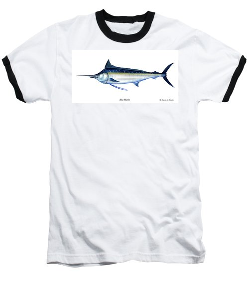 Blue Marlin Baseball T-Shirt by Charles Harden