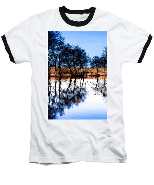 Blue Mirror Baseball T-Shirt