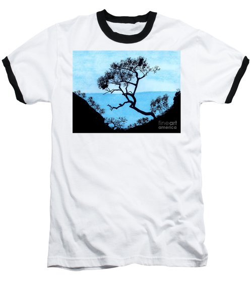 Baseball T-Shirt featuring the drawing Blue Mountain by D Hackett