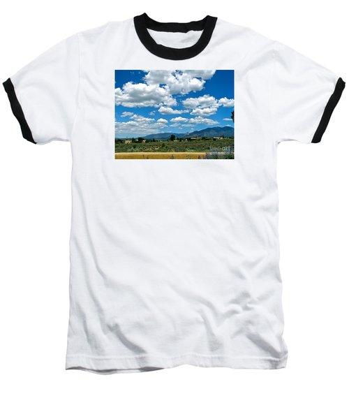 Blue Mountain Skies Baseball T-Shirt
