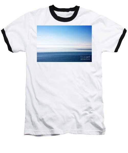 Blue Sea Scene Baseball T-Shirt