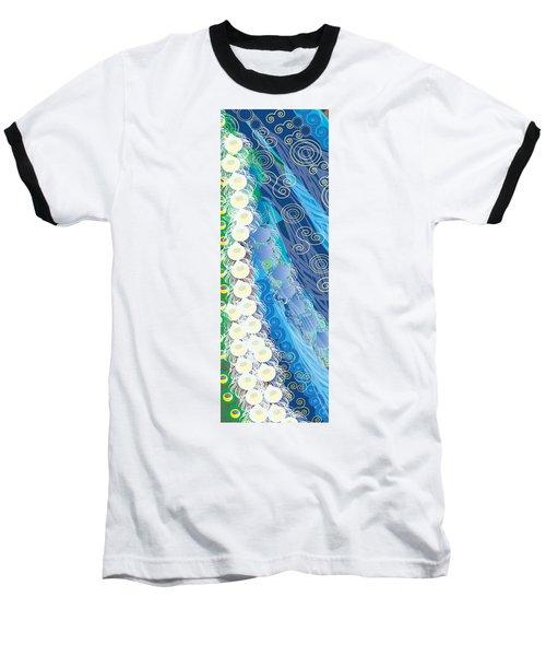Baseball T-Shirt featuring the digital art Blue Swirls Detail by Kim Prowse