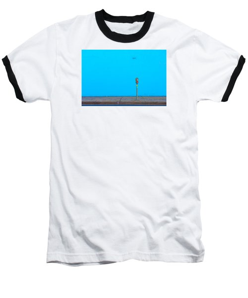 Blue Wall Parking Baseball T-Shirt by Darryl Dalton