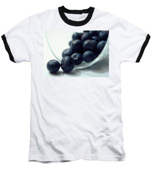 Blueberries Baseball T-Shirt by Joseph Skompski