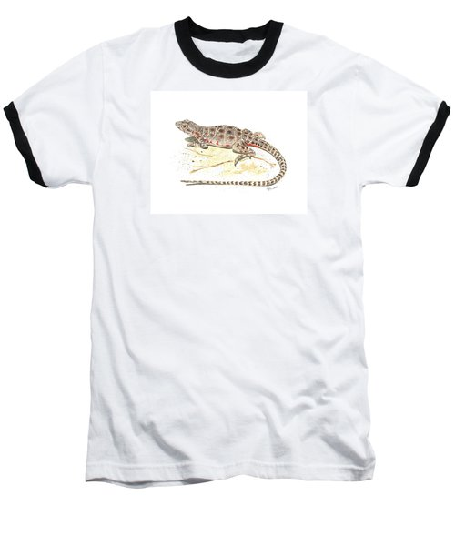 Blunt-nosed Leopard Lizard  Baseball T-Shirt by Cindy Hitchcock