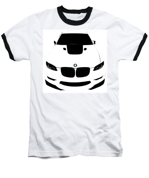 Baseball T-Shirt featuring the digital art Bmw White by J Anthony