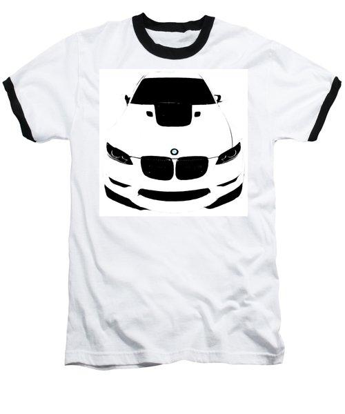 Bmw White Baseball T-Shirt