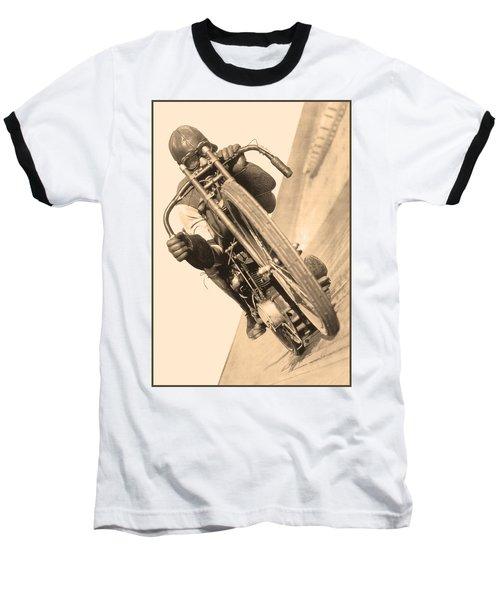 Board Track Racer Baseball T-Shirt