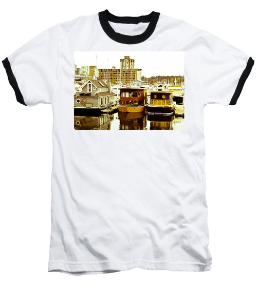 Baseball T-Shirt featuring the photograph Boathouses by Eti Reid