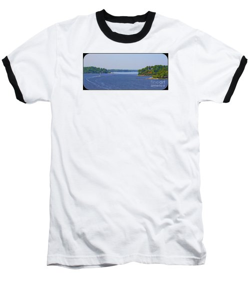 Boating On The Severn River Baseball T-Shirt by Patti Whitten