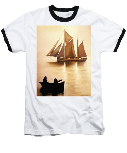 Boats In Sun Light Baseball T-Shirt