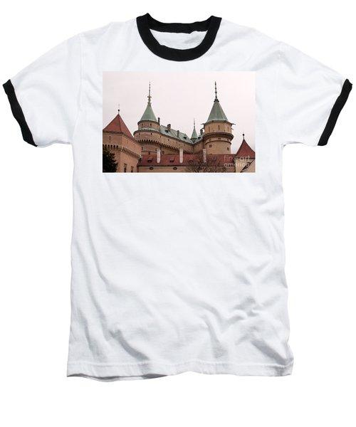 Baseball T-Shirt featuring the photograph Bojnice Castle by Les Palenik